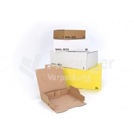 Mailbox - braun, weiß, gelb